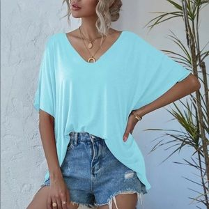 Softest Loose Fit Top- BLUE